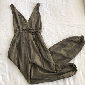 Free People All Natural Jumpsuit Moss